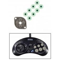 Sega Genesis MK-1470 [Six Button Controller] Conductive Pad Set