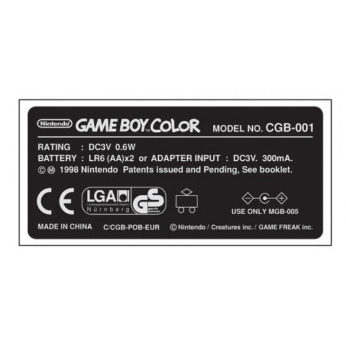 Game Boy Color Gbc Model Sticker Pikachu Blueyellow