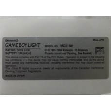 GameBoy Light [GBL] Model Sticker